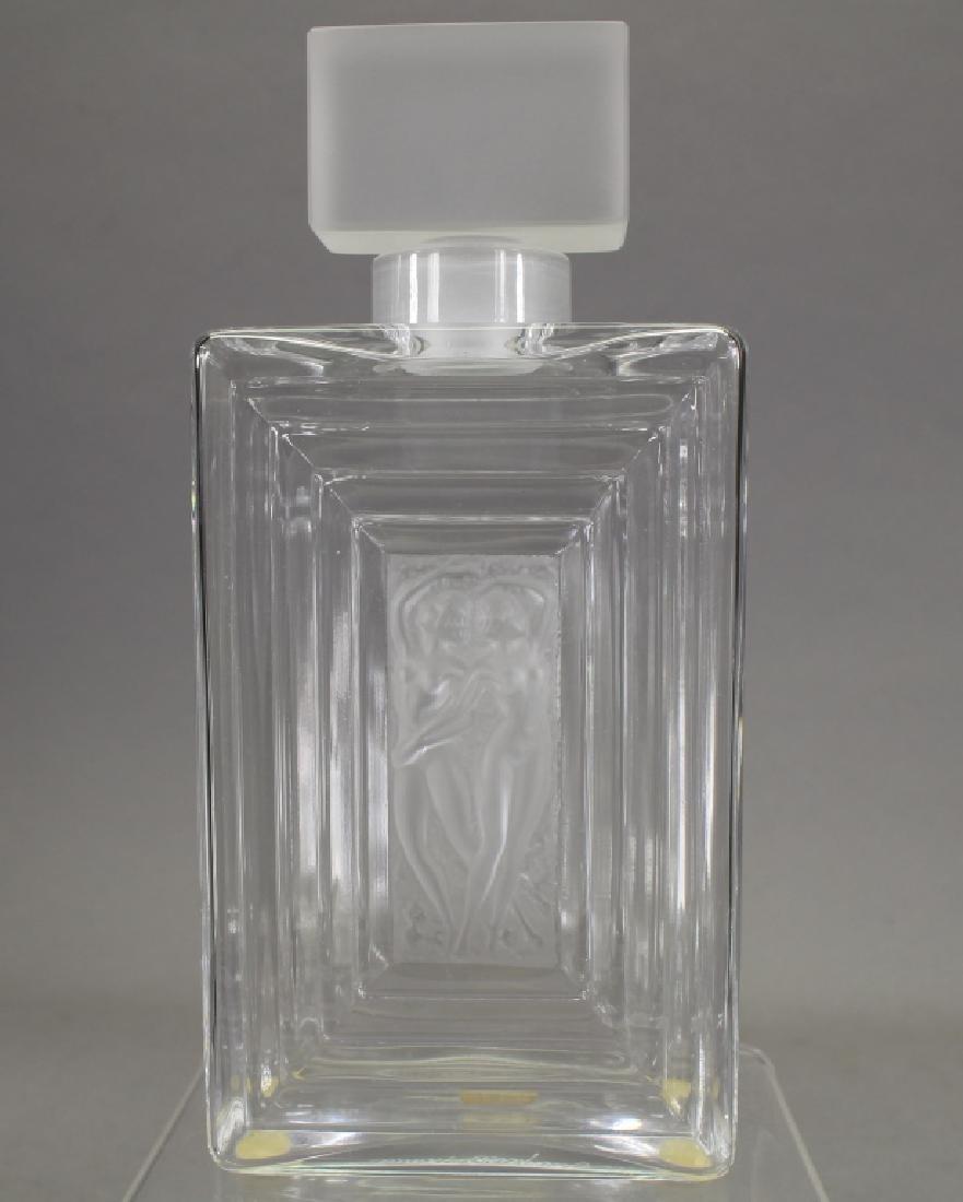 Lalique Crystal Duncan Perfume Bottle Flacon