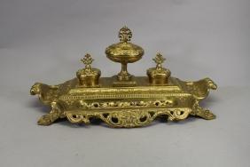 Thai Brass Inkwell