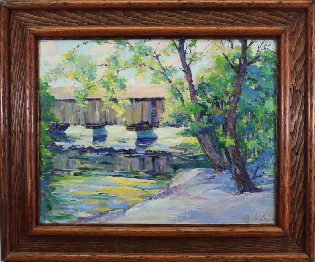 """Bridge at Vermont"" Peter Mayer (1887 - 1993)"