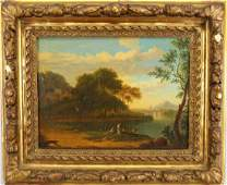19th C. Italian School Landscape with Figures