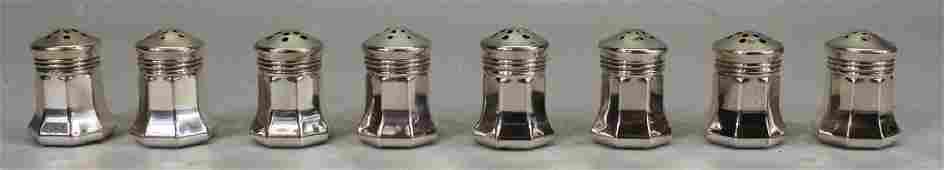 (8) Cartier Sterling Silver Salt & Pepper Shakers
