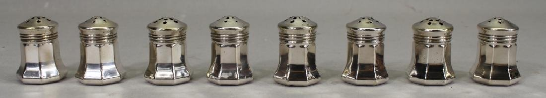 (8) Cartier Sterling Silver Salt & Pepper Shakers