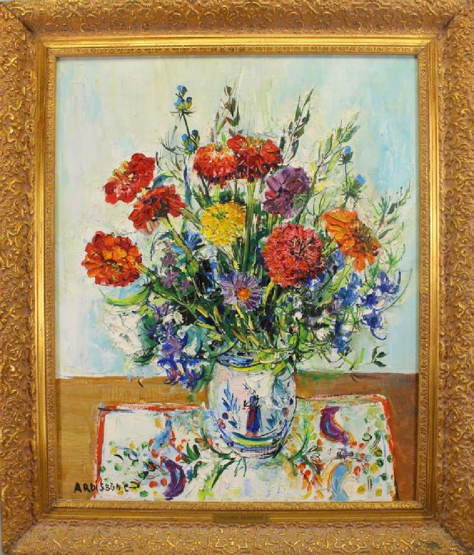"""Fleurs Zignias"" Yolande Ardissone (born 1927)"