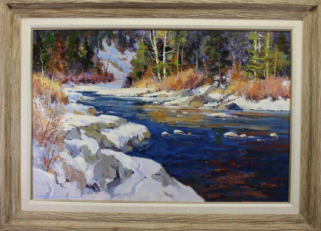 """""""Sierra Winter"""" Edward Norton Ward (born 1928)"""