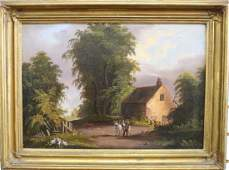 Hudson River School, 19th C. Oil/Canvas Painting