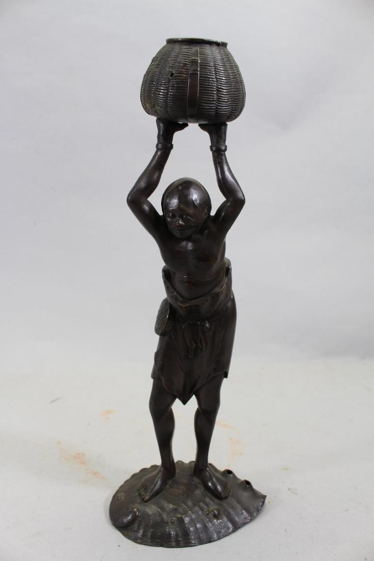 Meiji Period Bronze Japanese Figure