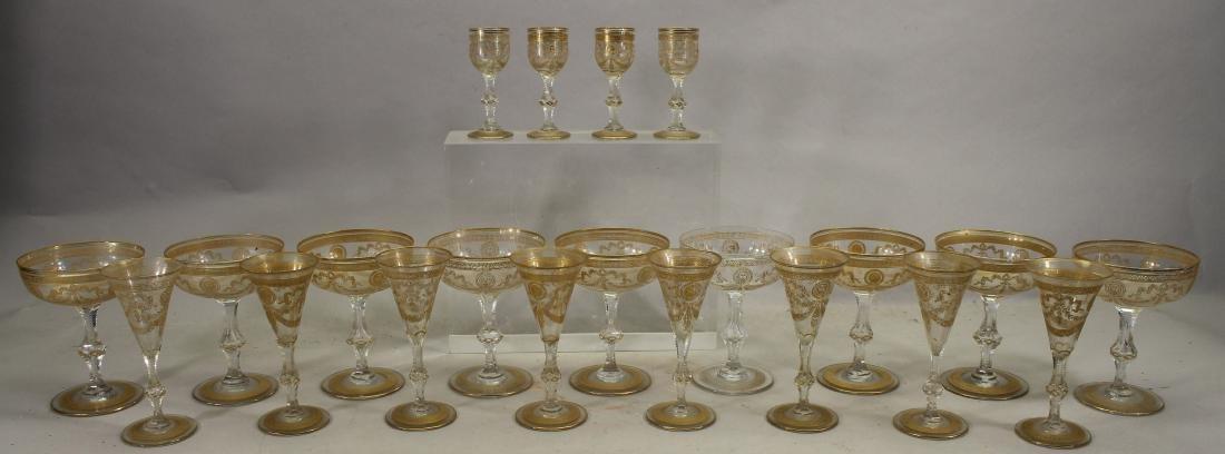 (21) Assorted Gilt/Glass Cups