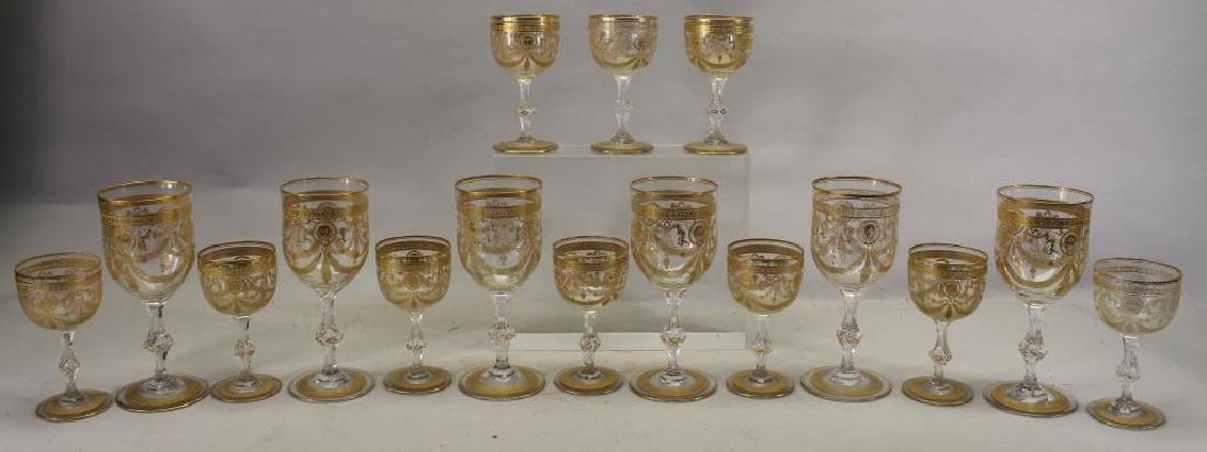 (16) Gilt/Glass Goblets, Cordials