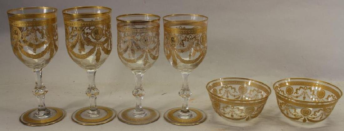 (6) Assorted Gilt/Glass Goblets, Bowls