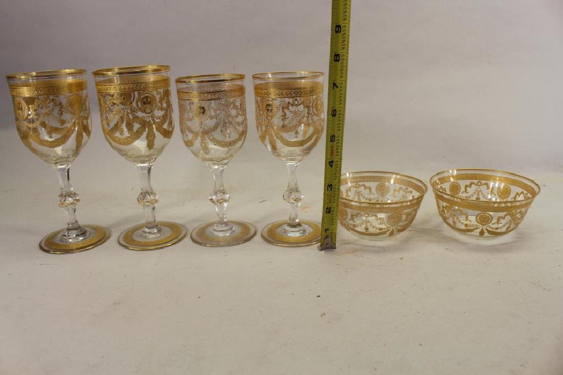 (6) Assorted Gilt/Glass Goblets, Bowls - 3