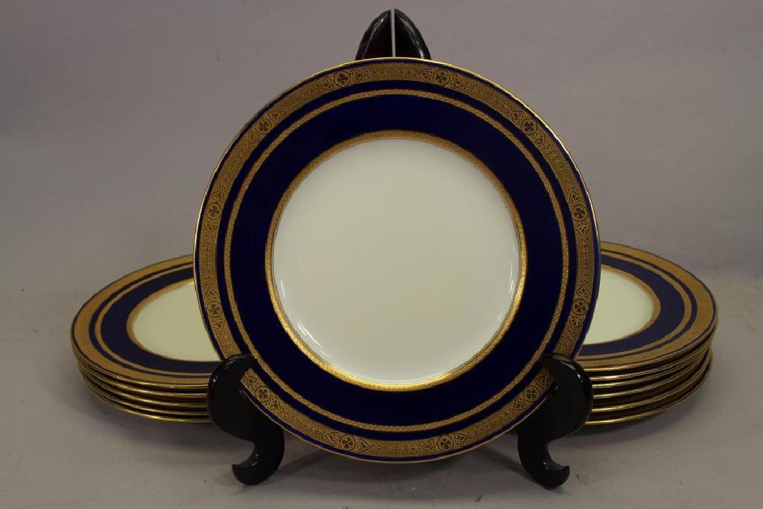 (12) Tiffany & Co. Gilt Porcelain Dishes