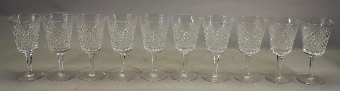 (10) Waterford Crystal Water Goblets