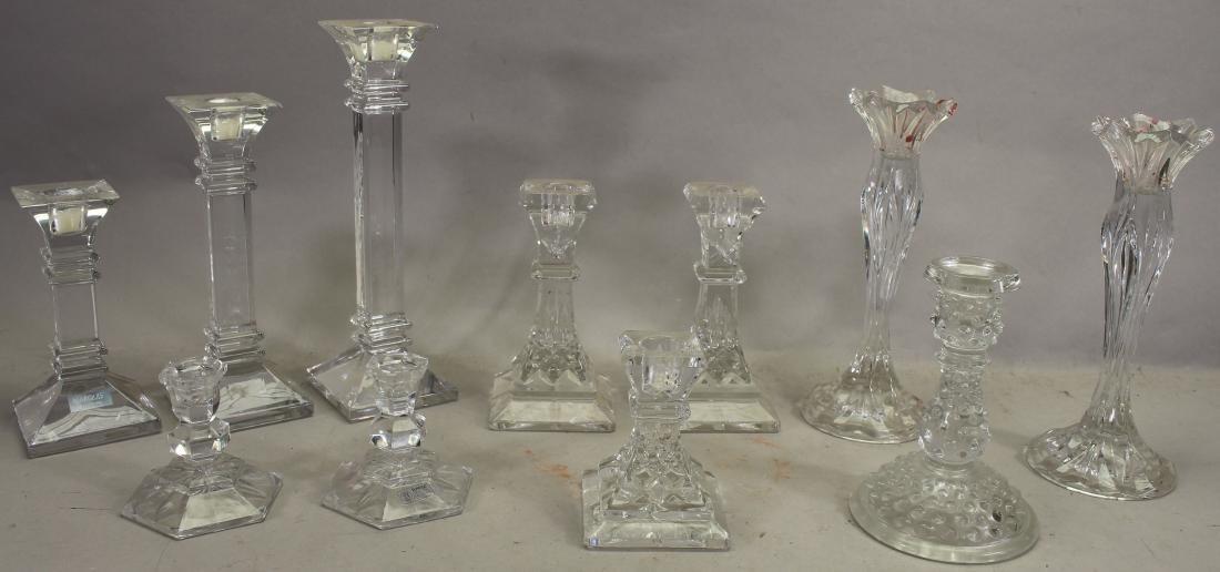 (11) Glass Candlesticks