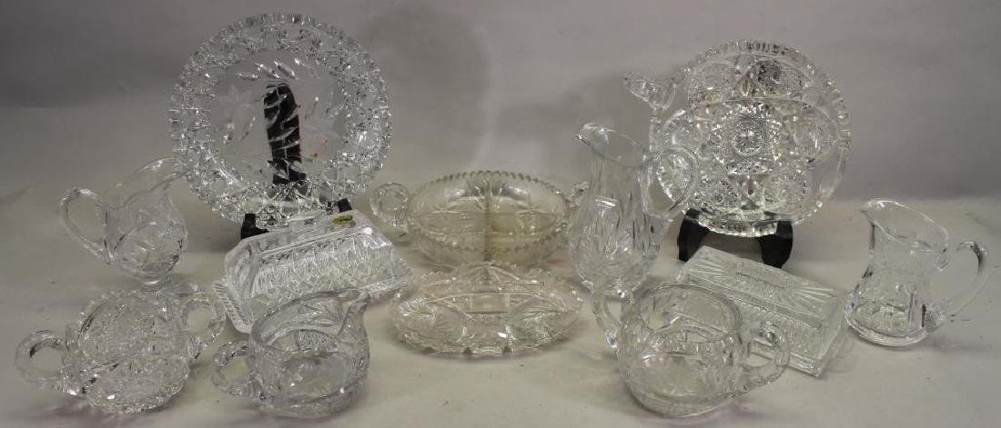 (12) Assorted Cut Glass Items
