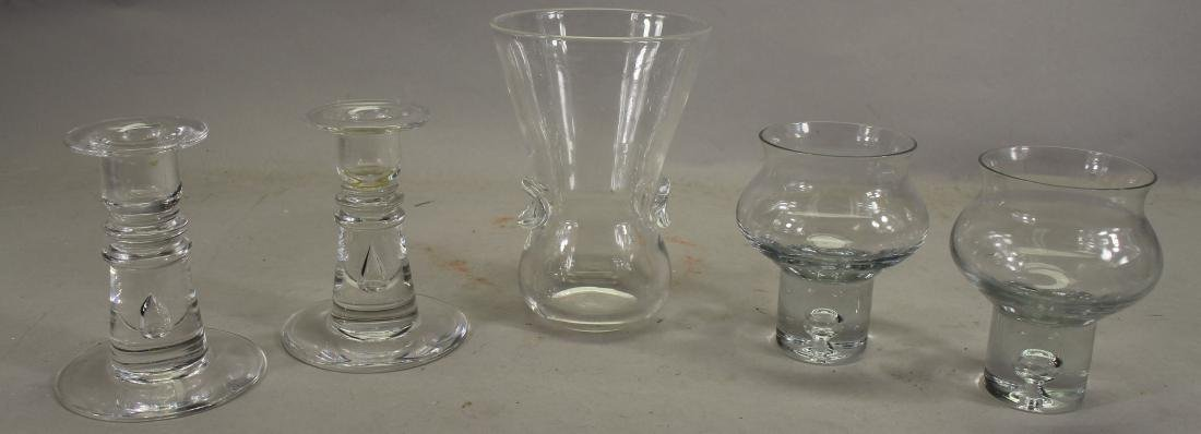 (5) Glass Articles, 3 Signed Steuben