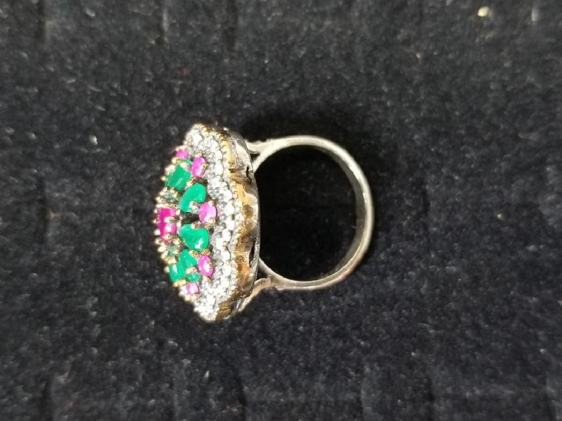Turkish Sterling Semi-Precious Stone Ring - 2