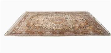 Large Semi Antique Persian Silk Rug