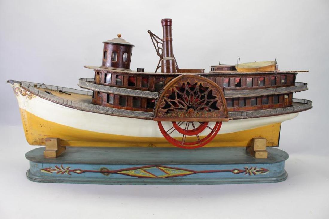 """Plank on Frame Model of Sidewheeler """"Gov Mcgill"""""""