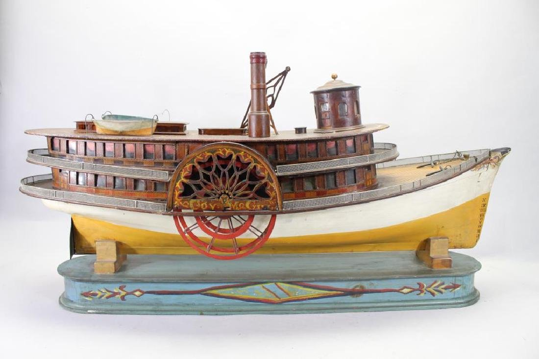 "Plank on Frame Model of Sidewheeler ""Gov Mcgill"" - 4"