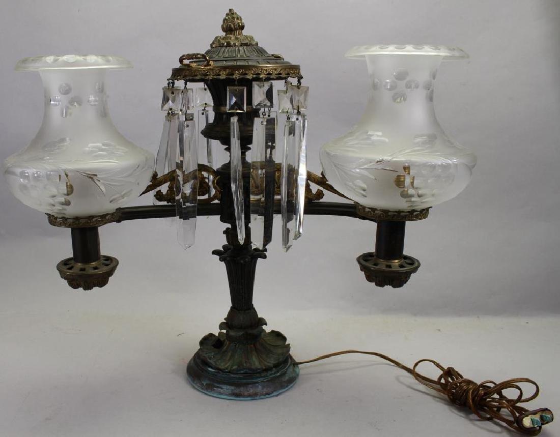 Vintage Bronze Two Arm Lamp