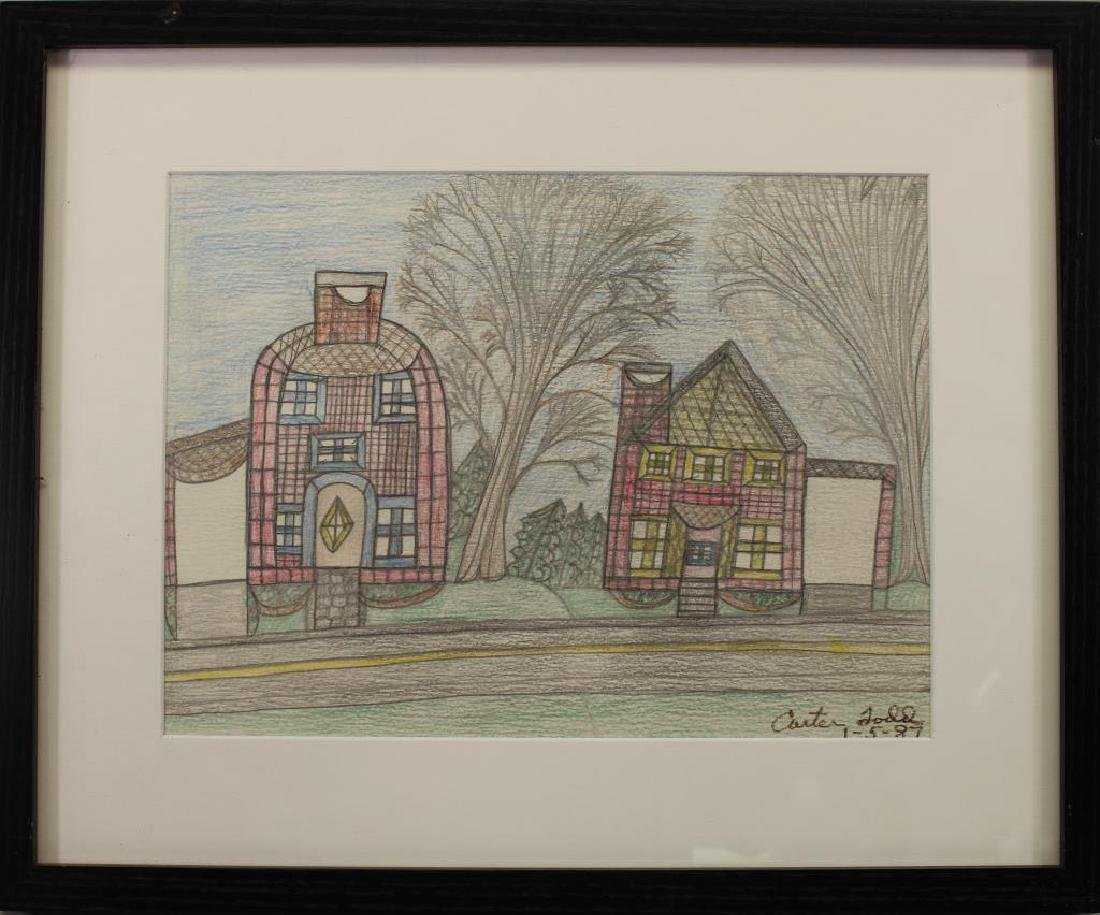 Carter Todd '87 Colored Pencil, Farm House