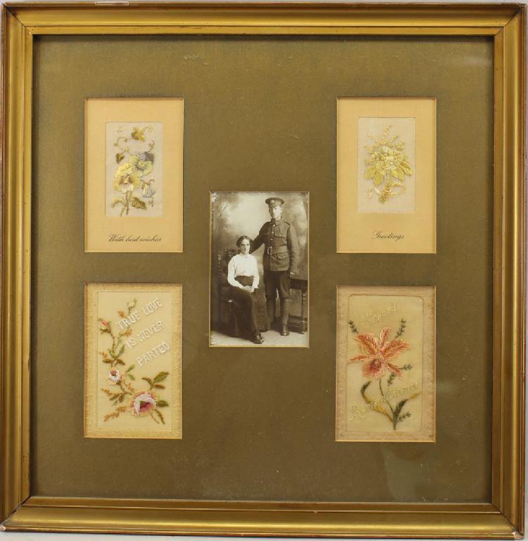 """True Love is Never Parted"" Framed Needlework"
