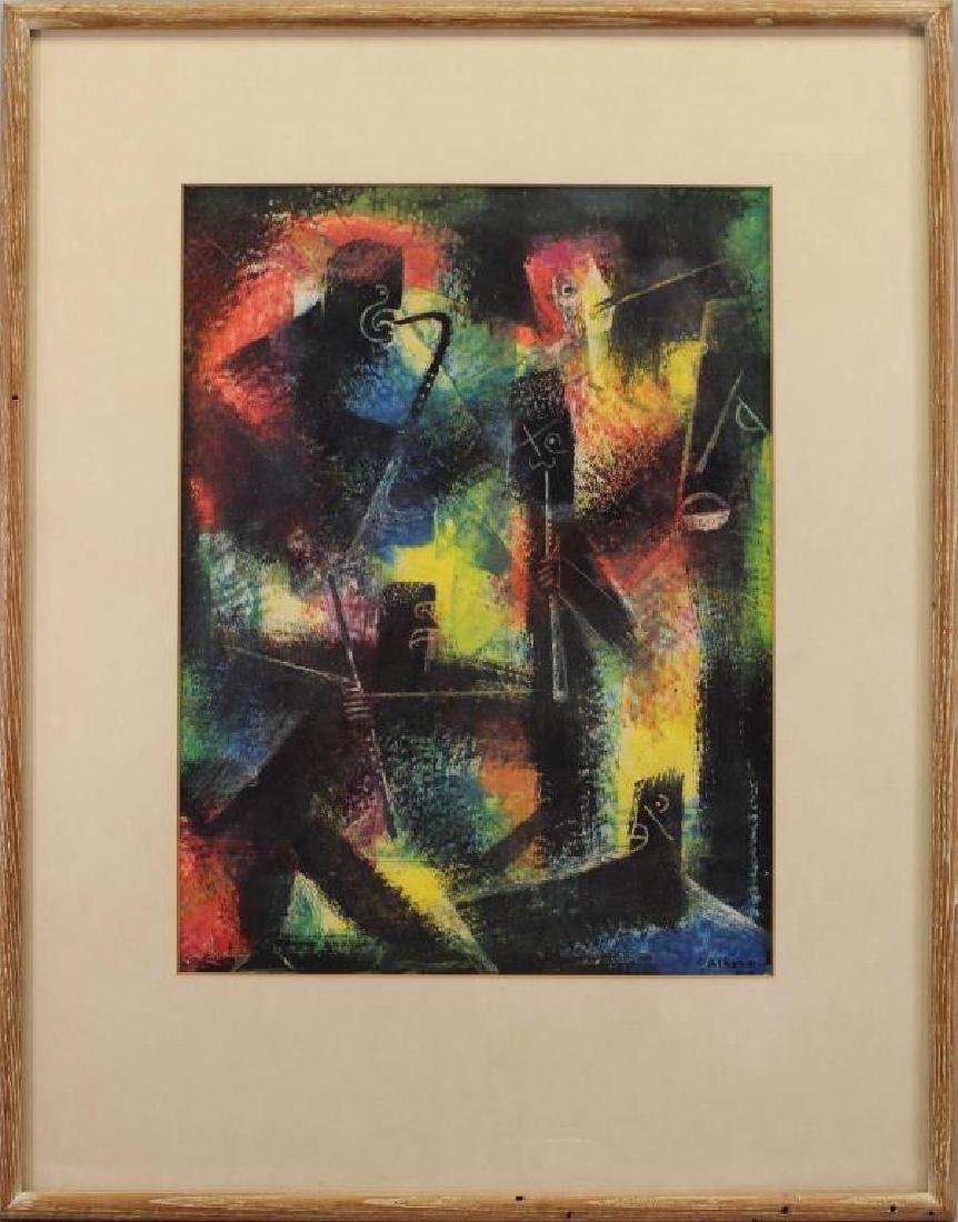C. Albert, Signed 20th C. Figural Abstract