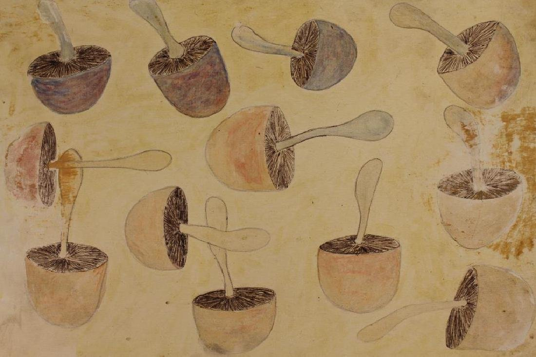 Vintage Painting of an Assortment of Mushrooms