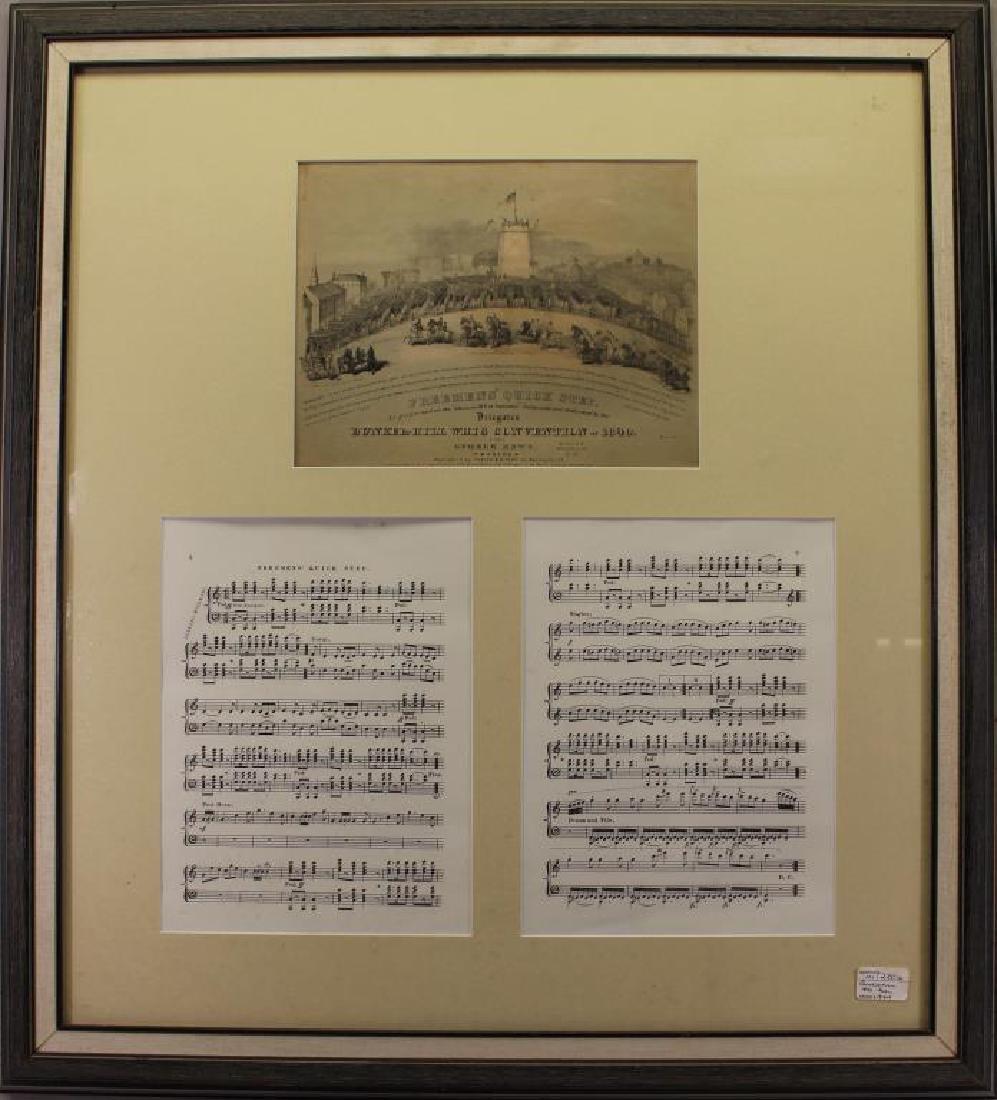 """""""Bunker Hill"""" Framed 2-part Sheet Music"""