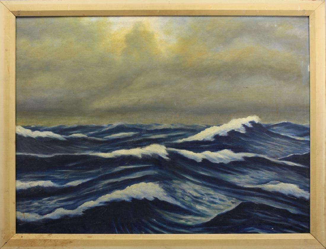 """Dr. A.J.L. Moritz """"Rough Seas"""" w/ Exhibition Label"""