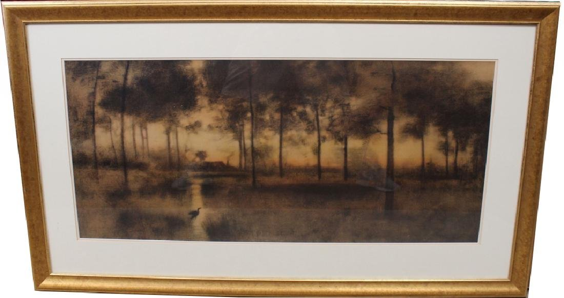 "Large George Inness ""Home of the Heron"" Print"