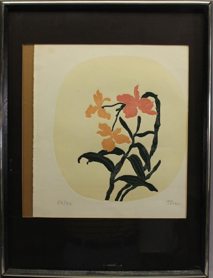 Signed, Lithograph of Flowers (53/100)