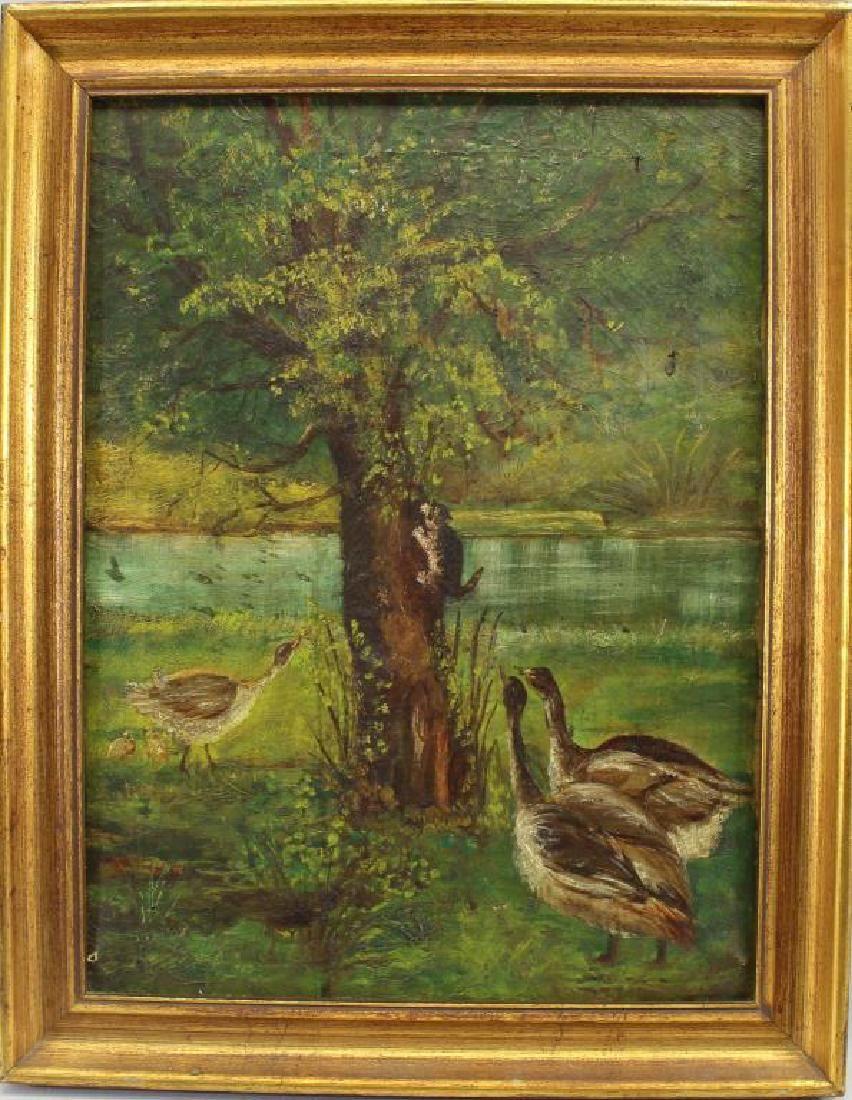 American School, Geese Chasing Cat