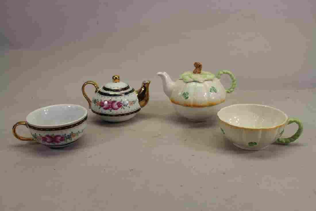 (2) Tea Pots w/ Cups