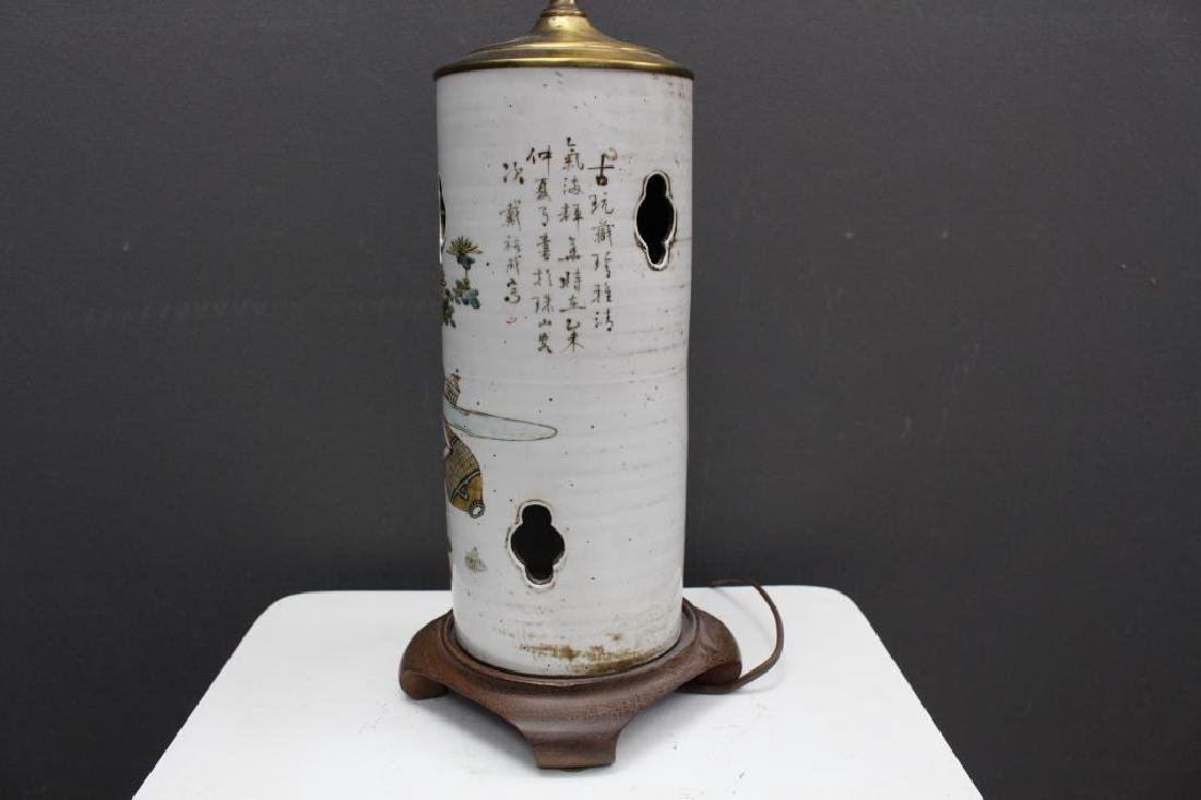 Chinese Qing Dynasty Signed Porcelain Lamp - 4