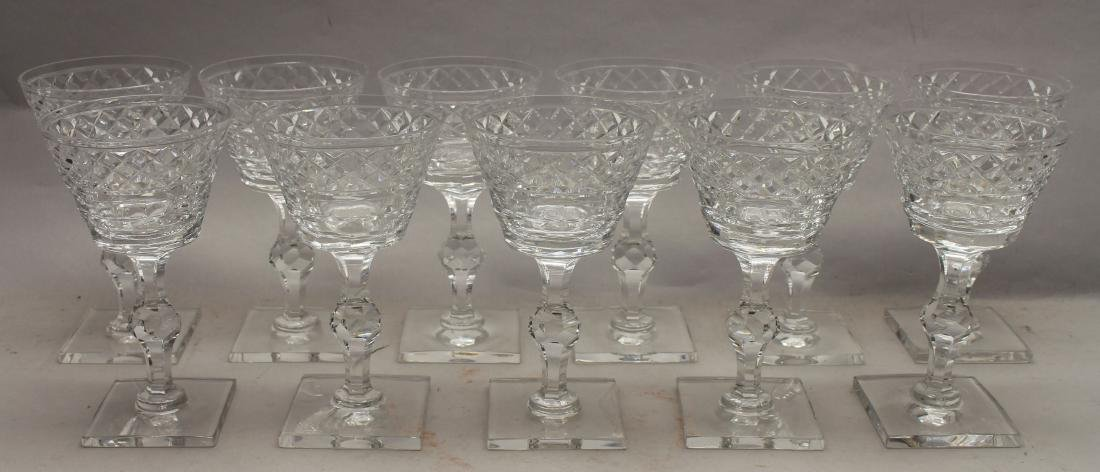 (11) Hawkes, Signed Glass Goblets