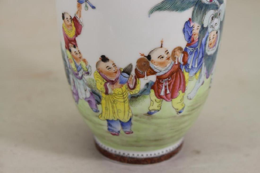Signed, Chinese Republic Period Vase - 3