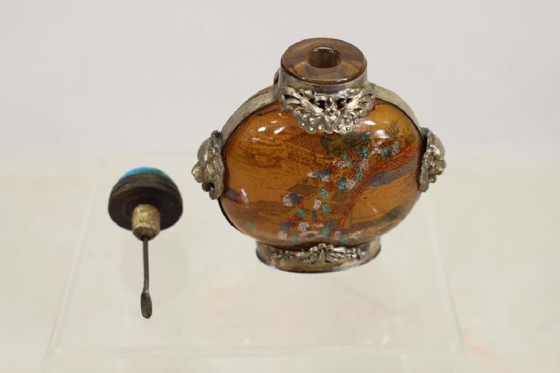 Reverse Painted Snuff Bottle w/ Stopper - 6