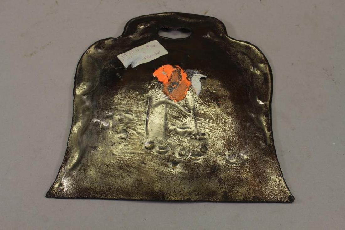 Meiji Period, Japanese Gilded Bronze Dust Pan - 4
