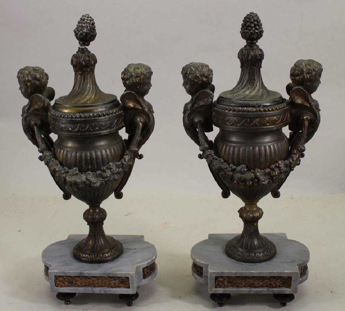 Antique French Bronze Figural Cassolet
