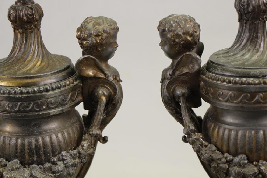 Antique French Bronze Figural Cassolet - 2