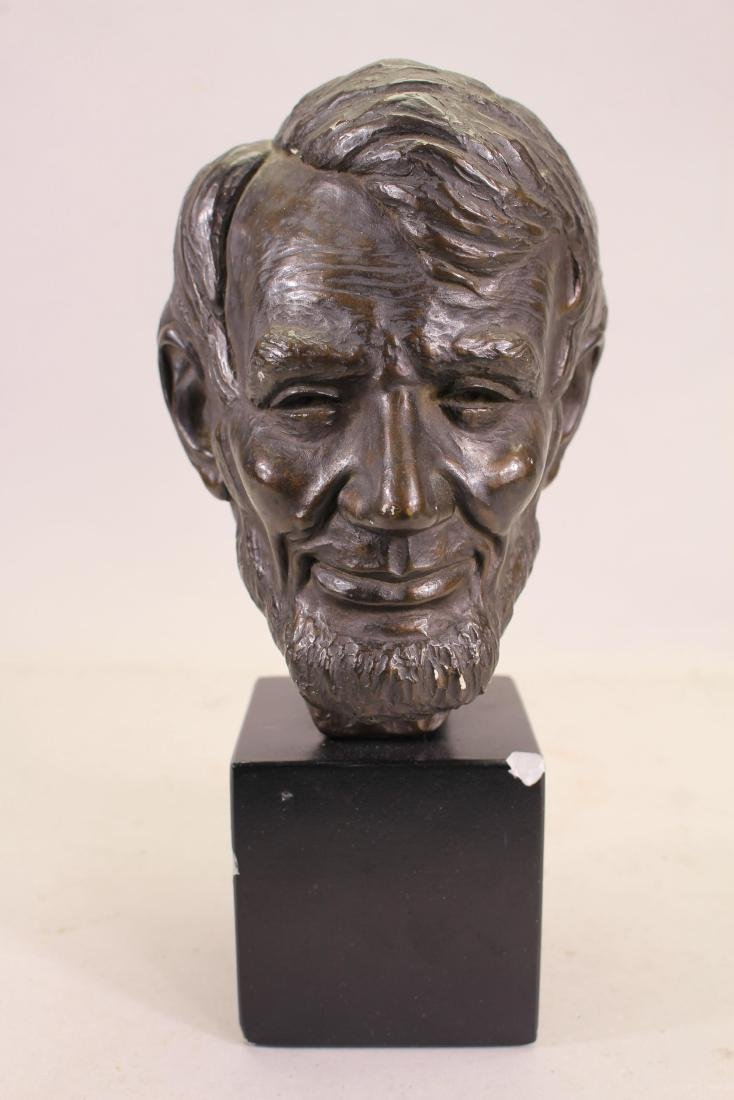 Bronze Abraham Lincoln Bust, Signed