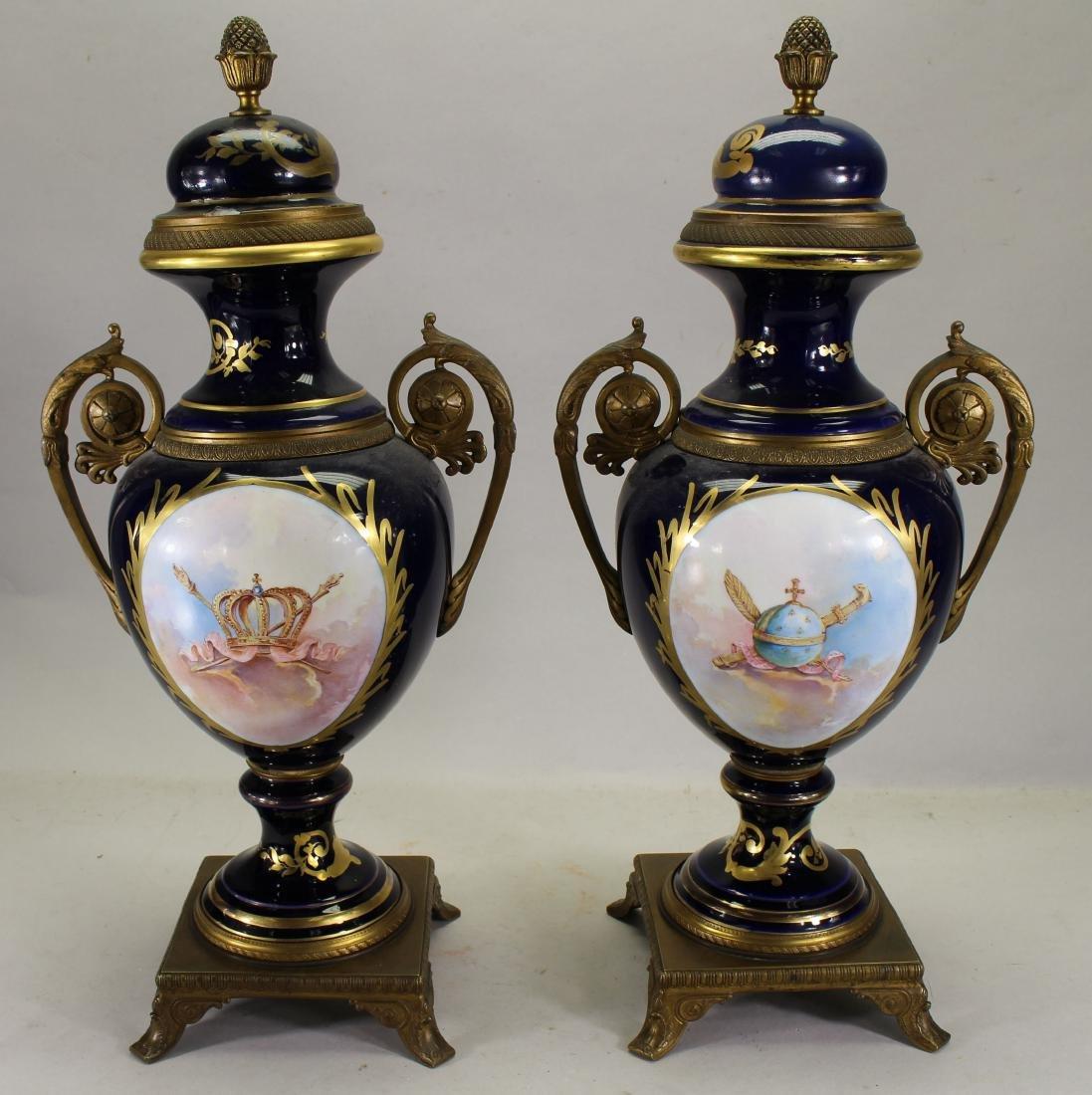 (2) Sevres Style Urns, Napoleon & Josephine - 2