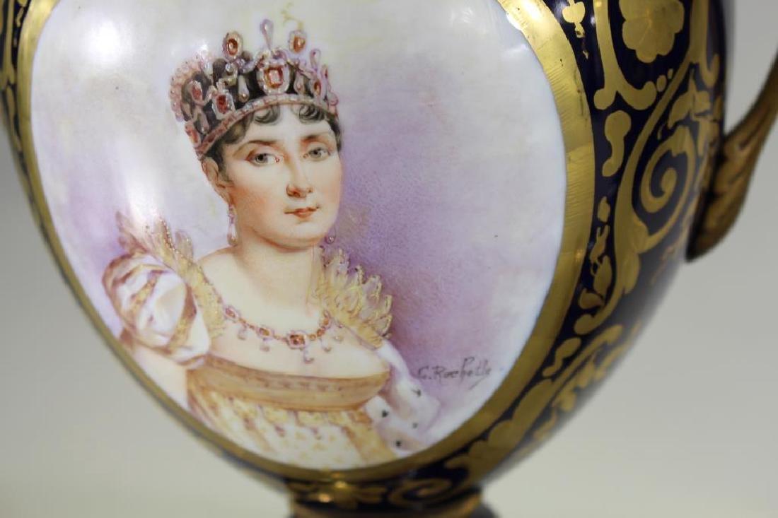 (2) Sevres Style Urns, Napoleon & Josephine - 3