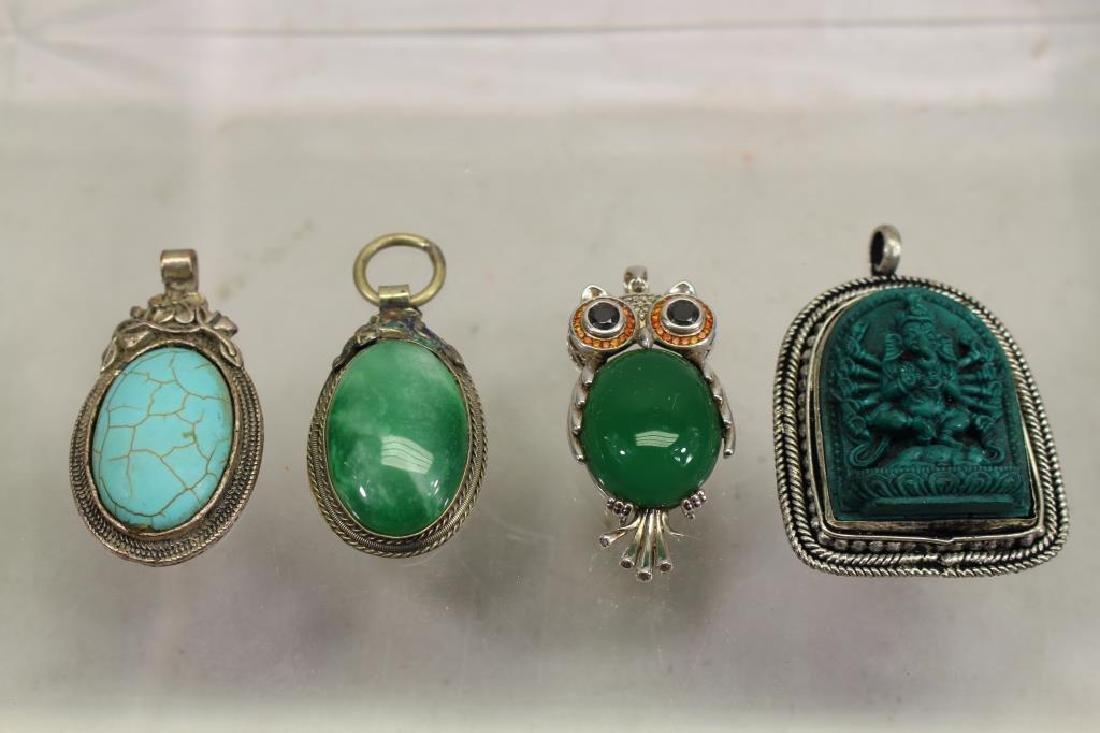 (4) Mixed Stone Jewelry Pendants