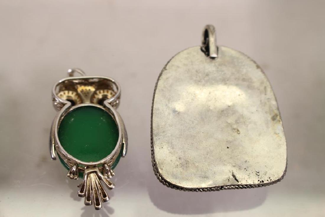 (4) Mixed Stone Jewelry Pendants - 5