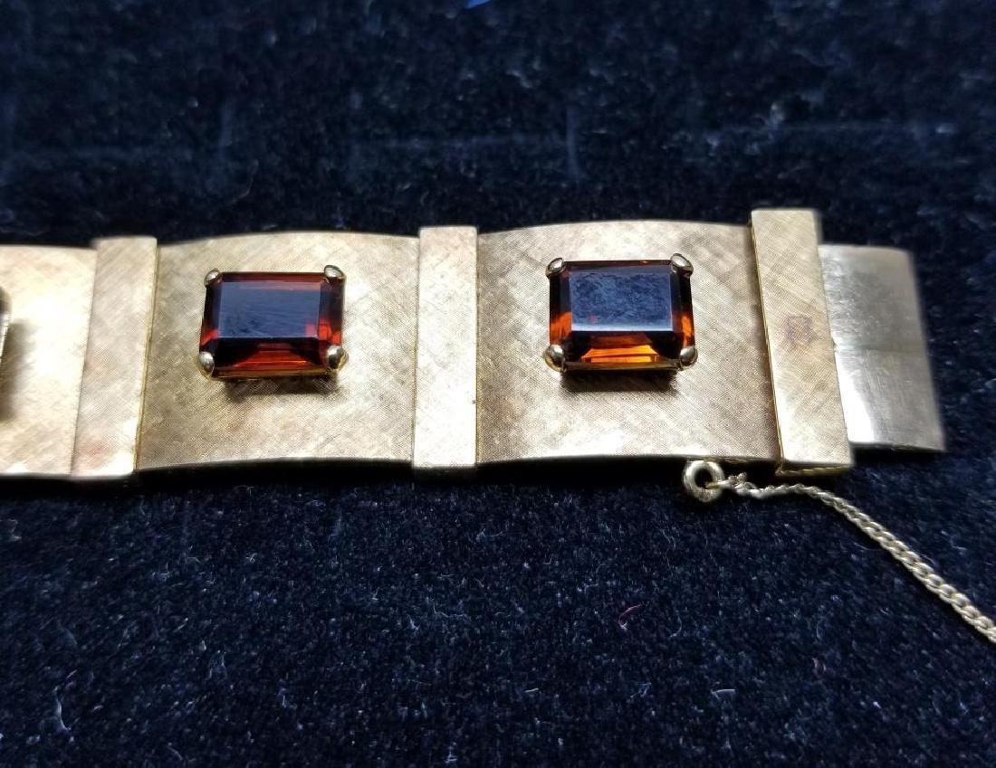 Gold Bracelet w/ Rio Grand Quartz & Earrings Set - 3