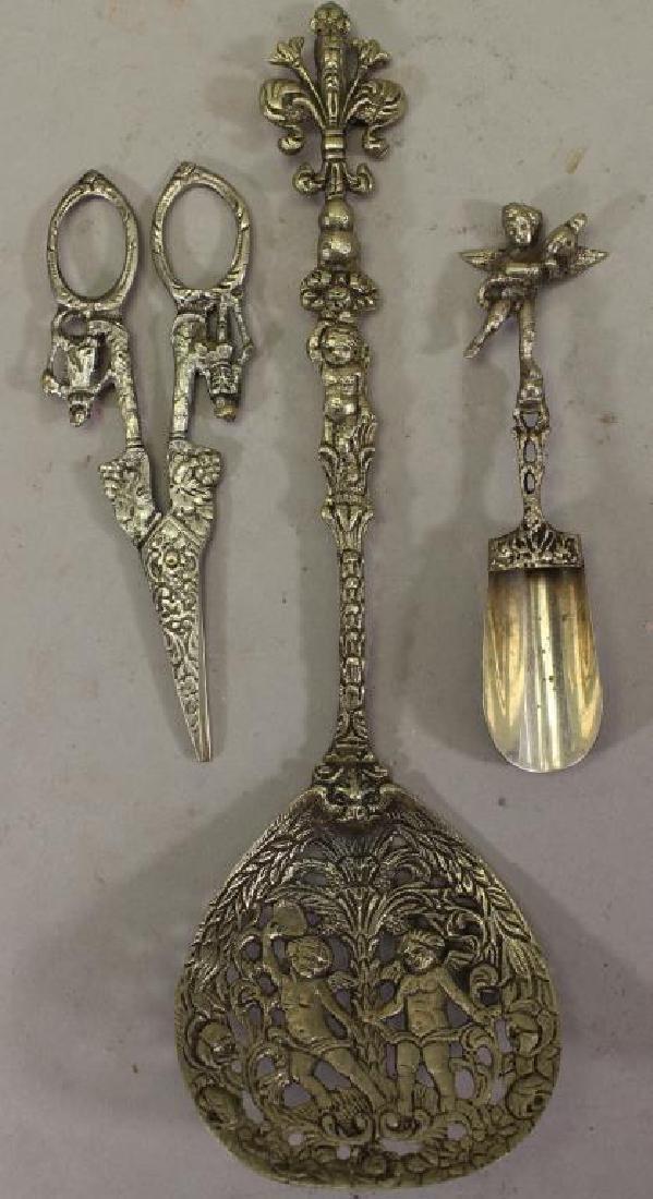 (3) Italian Silver Figural Articles