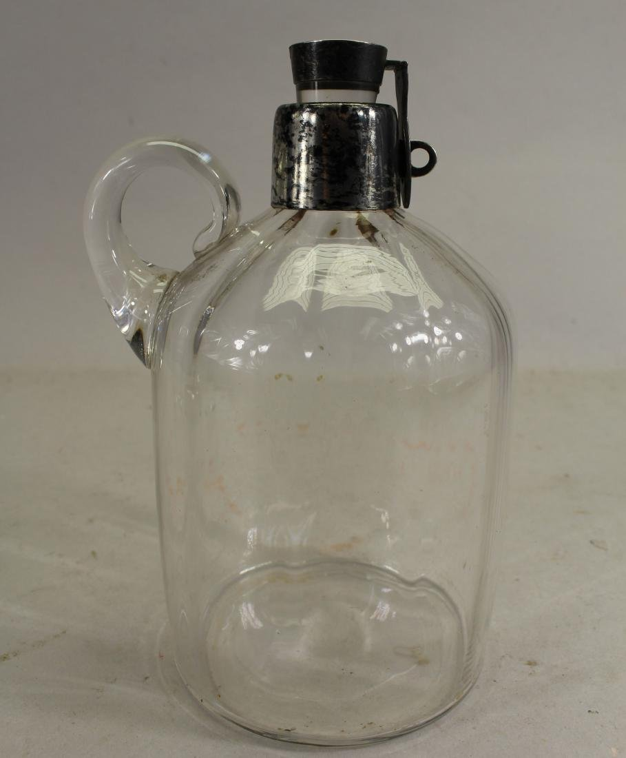 Antique Sterling Silver/Glass Decanter