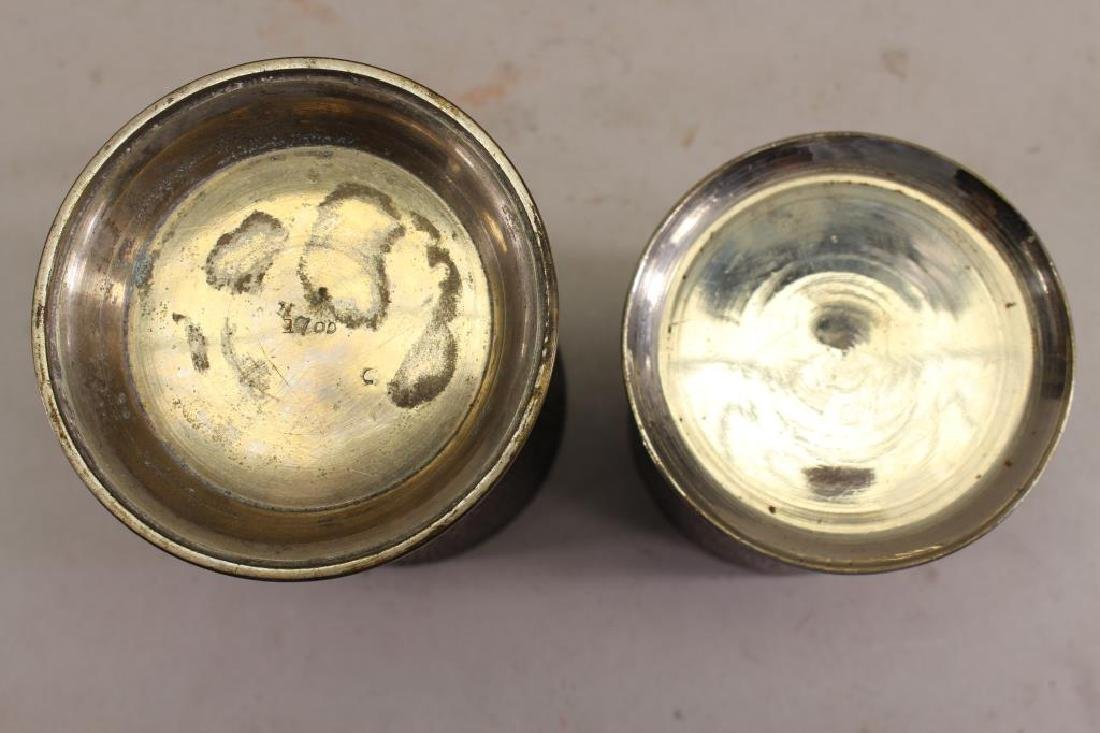 (2) Elaborately Engraved Silver Plate Cups - 4